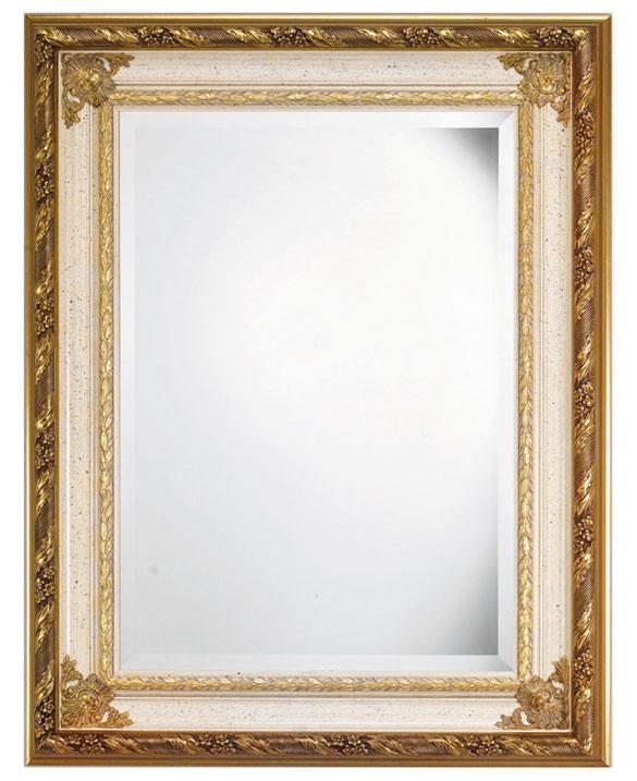Specchiera cornice legno massello rettangolare ciliegio o - Specchio anticato ...