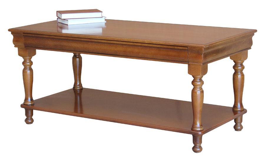 Table basse style ''Louis Philippe'' avec tiroir caché
