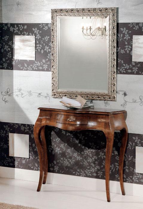 Mobile ingresso corridoio composizione consolle specchiera in legno ebay for Mobili classici per ingresso