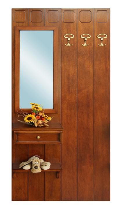 Mobili parete ingresso guardaroba salvaspazio in legno specchio appendiabiti - Mobili in specchio ...