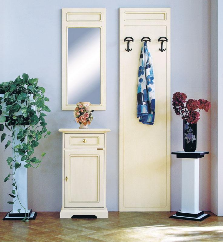 Mobili ingresso in legno pannello appendiabiti specchio - Appendiabiti da parete con specchio ...